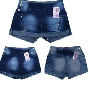 a5e9f5f6ea Saia De Jeans Com Lucra - Shorts para Feminino no Mercado Livre Brasil
