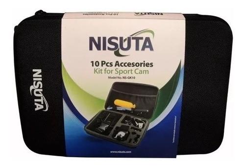 kit de 10 accesorios (nsgk10) para camara deportiva