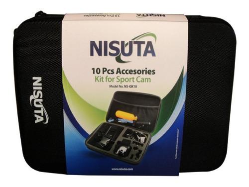 kit de 10 accesorios para gopro, accesorios go pro estuche