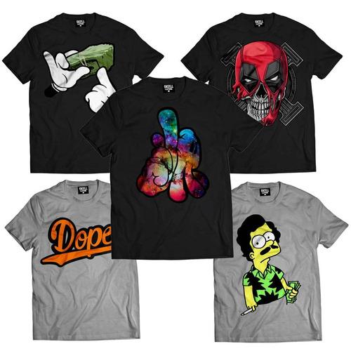 kit de 10 camisas rap notorius big estilo tupac swag kings