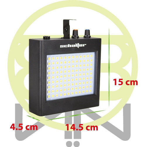 kit de 10 estrobos led 108 rgb ultrabrillantes luz disco
