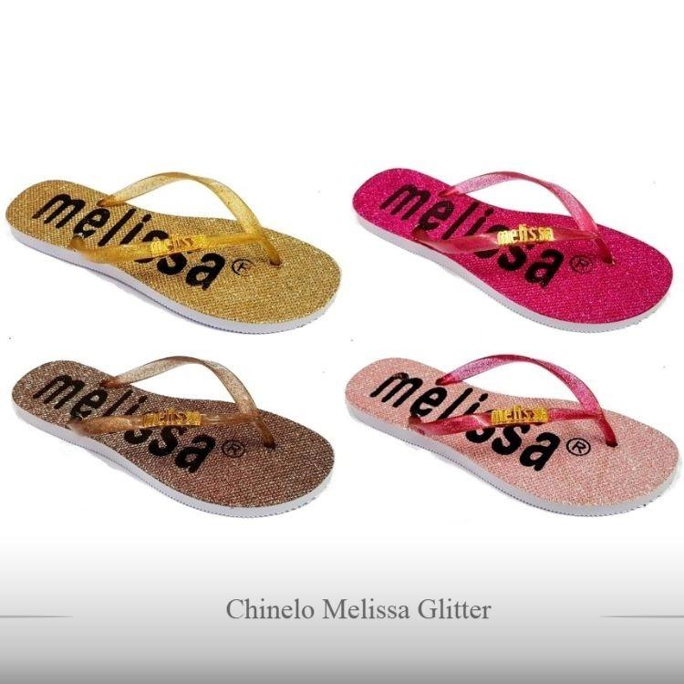 7d0f6c201f Kit De 10 Pares Chinelos Melissa Feminino Glitter Fashion - R  100 ...