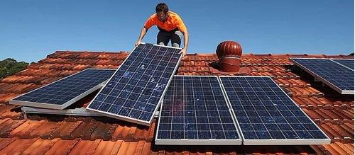 kit de 12 paneles solares 370w completo - 1110kwh bimestral
