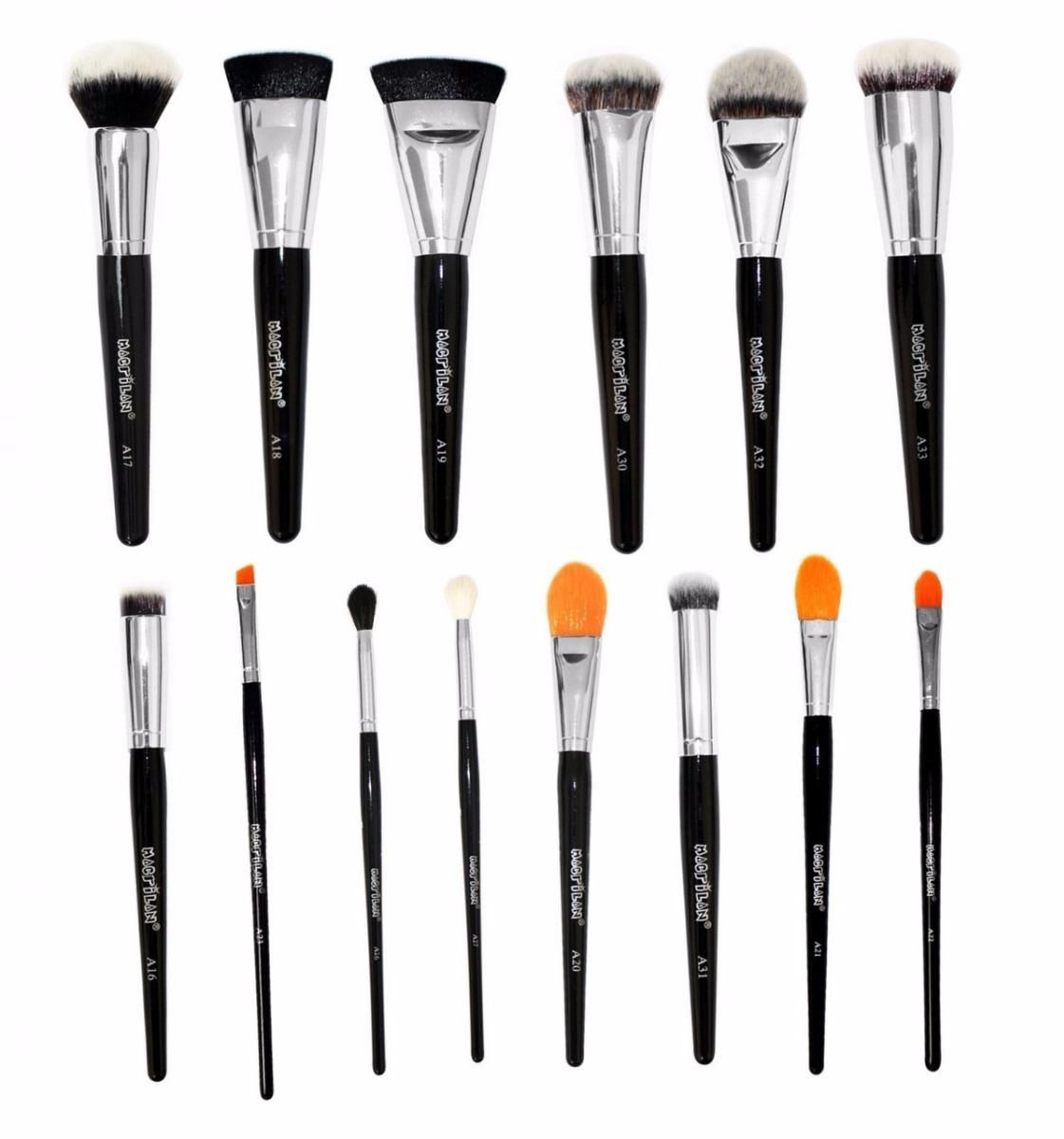 kit de 14 novos pincéis linha max macrilan-pinceis maquiagem. Carregando  zoom. 79c34d6e75