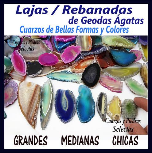 kit de 18 laja rebanada geoda ágata colores surtidos cuarzo