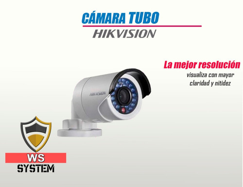 kit de 2 cámaras hikvision con cable - disco duro 500gb p2p