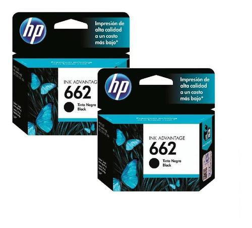 kit de 2 cartuchos de tinta hp 662 original negro