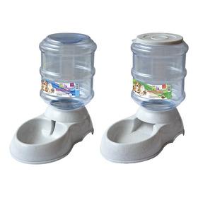 Kit De 2 Dispensadores Agua Y Croquetas Varios Colores