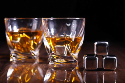 kit de 2 vasos y 8 piedras de acero enfriadoras licores lp