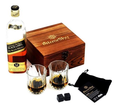 kit de 2 vasos y 8 piedras enfriadoras licores y bebidas lp