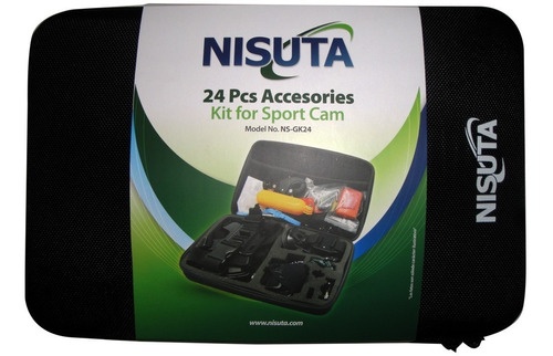 kit de 24 accesorios para gopro, accesorios go pro estuche