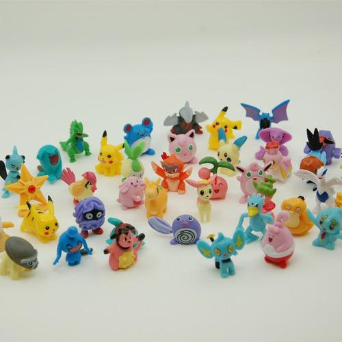kit de 24 bonecos miniatura lote pokémon c/o pikachu incluso