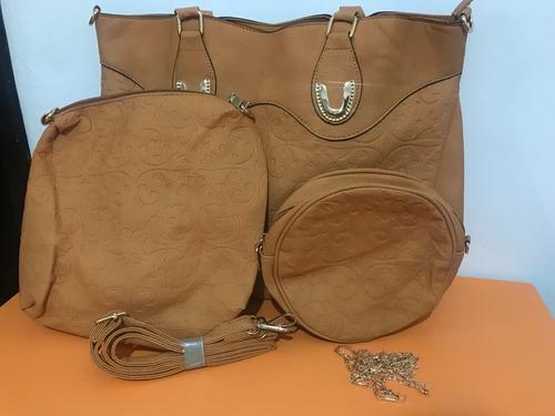 kit de 3 bolsas para dama 100% calidad y super económicas