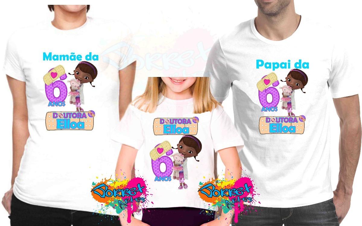 397726fe9 kit de 3 camisa camiseta personalizada festa dra. brinquedo. Carregando  zoom.