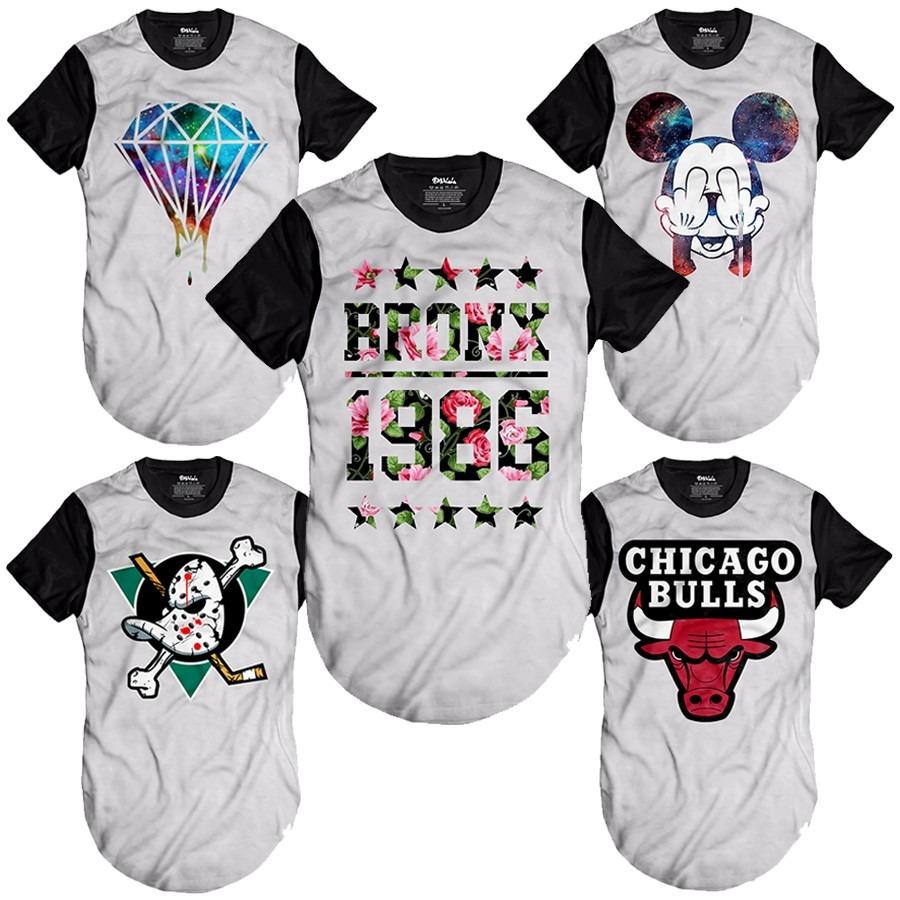 kit de 3 camisas longline oversized camisetas alongadas swag. Carregando  zoom. e75a5843ecf
