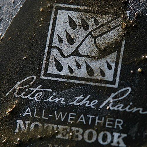kit de 3 cuadernos rite in the rain, espiral superior, raya.