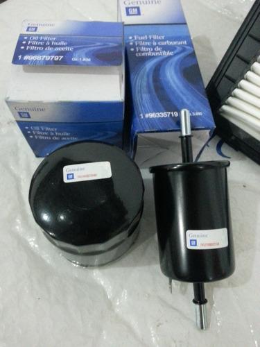 kit de (3) filtro optra aire motor aceite gasolina original