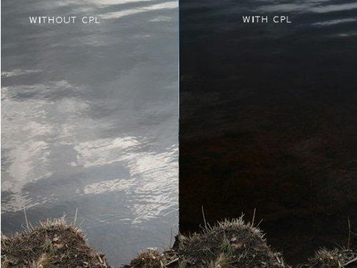 kit de 3 filtros 52mm uv, polarizado y fld con estuche