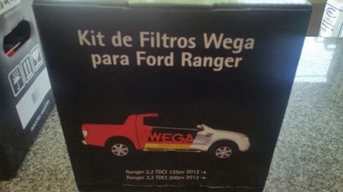 kit de 3 filtros wega ford ranger 2.2 3.2 2012-