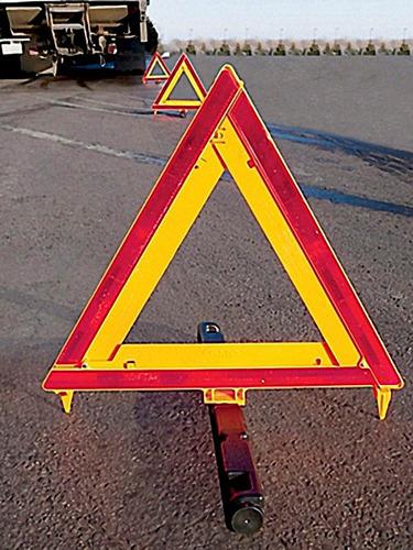 kit de 3 triangulos de emergencia automotriz para carreteras