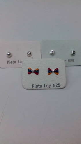 kit de 3 zarcillos  para niñas.mito73
