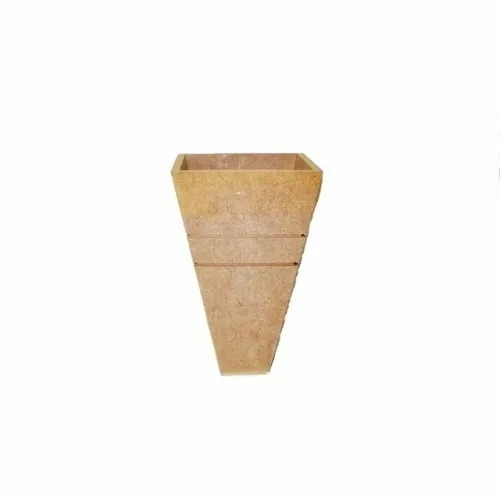 kit de 30 vasos mdf cru 18 cm altura