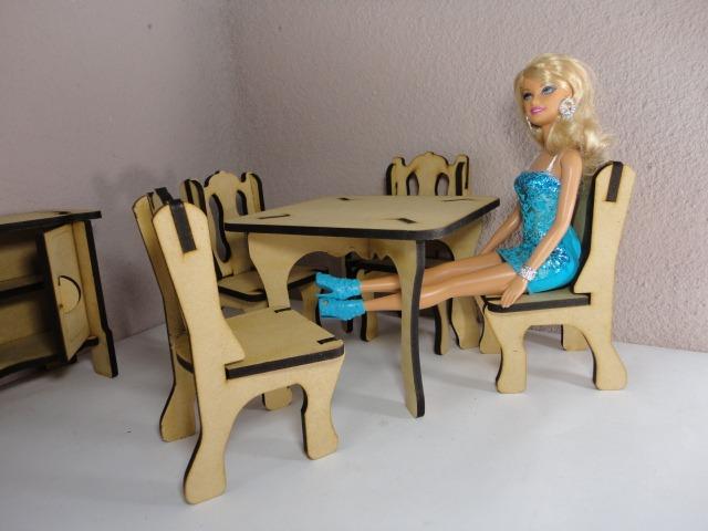 Kit de 31 muebles para barbie hechos en madera mdf for App para hacer muebles