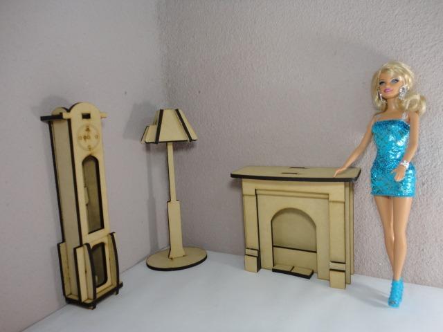 Kit De 31 Muebles Para Barbie, Hechos En Madera Mdf - $ 1,020.00 en ...