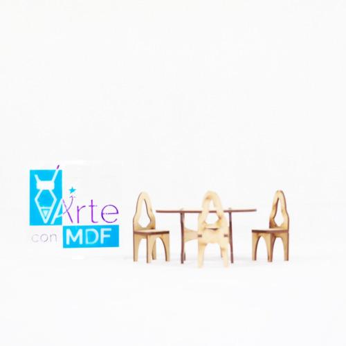 kit de 32 muebles modernos para casa muñecas moderna en mdf