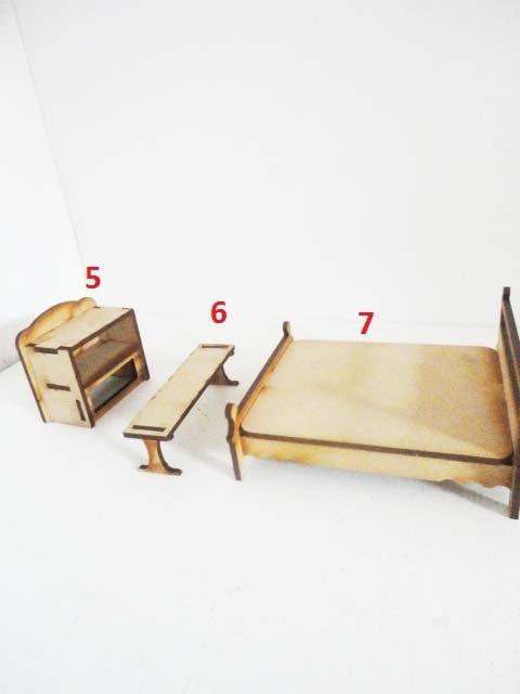 Kit de 38 muebles para casa de mu ecas en mdf envio gratis for Envio de muebles