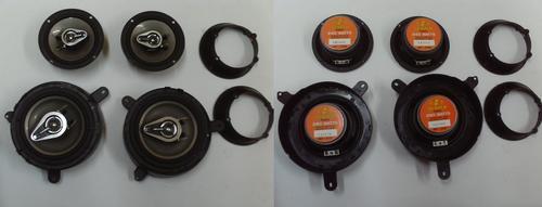kit de 4 bocinas 6.5 y 5 1/4 buster para platina pointer