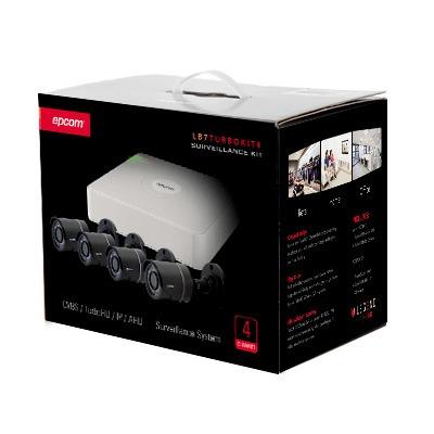 kit de 4 camaras +grabador+ disco duro 2tb
