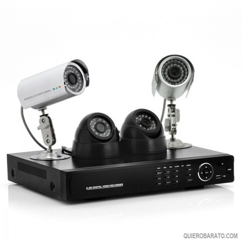 kit de 4 camaras para vigilancia