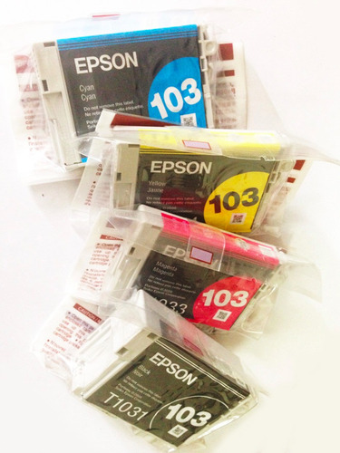 kit de 4 cartuchos epson originales 103