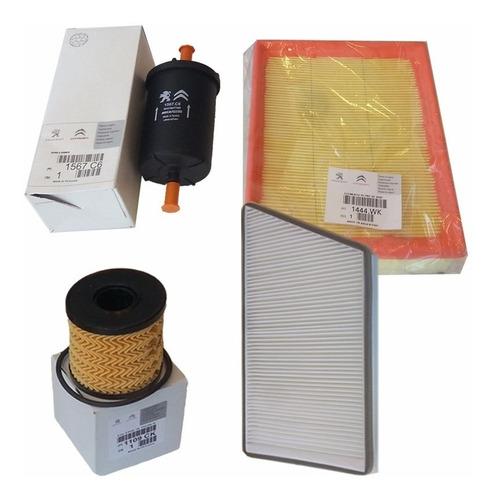 kit de 4 filtros originales peugeot 206 1.6 16v nafta 05/09