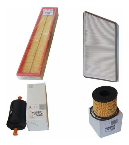 kit de 4 filtros originales peugeot 207 compact 1.6 nafta