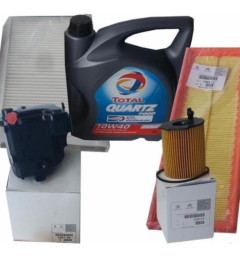 kit de 4 filtros y aceite peugeot 307 motor 1.6