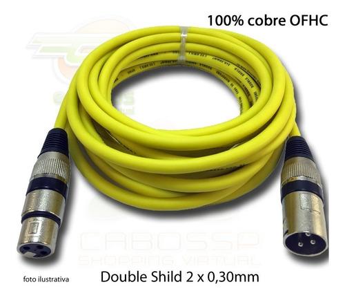 kit de 5 cabos colorido microfone/dmx  balanceado 2 metros