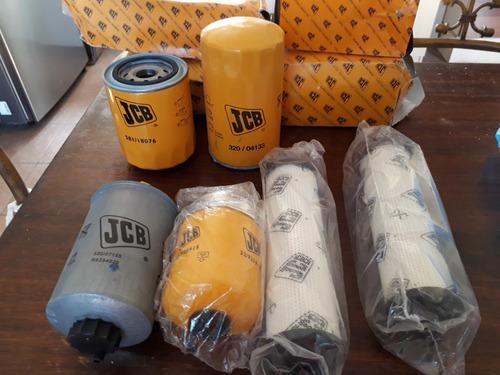 kit de 5 filtros retroexcavadoras jcb - 3c uk4x4