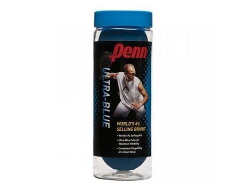 kit de 5 lata de 3 bolas para squash ultra-blue penn
