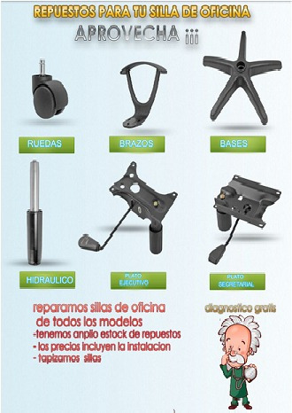 Kit De 5 Ruedas Para Sillas Oficina Operativas Pc Cyber - $ 250,00 ...