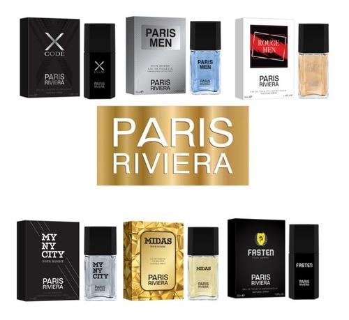 kit de 50 perfumes paris riviera 30ml edt - a escolha