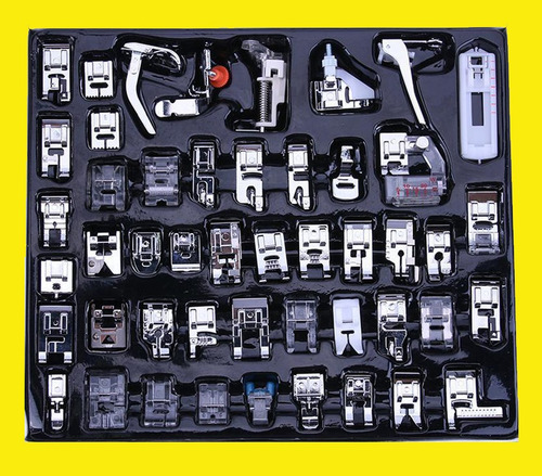 kit de 50 pzas. prensatelas + kit de agujas universales