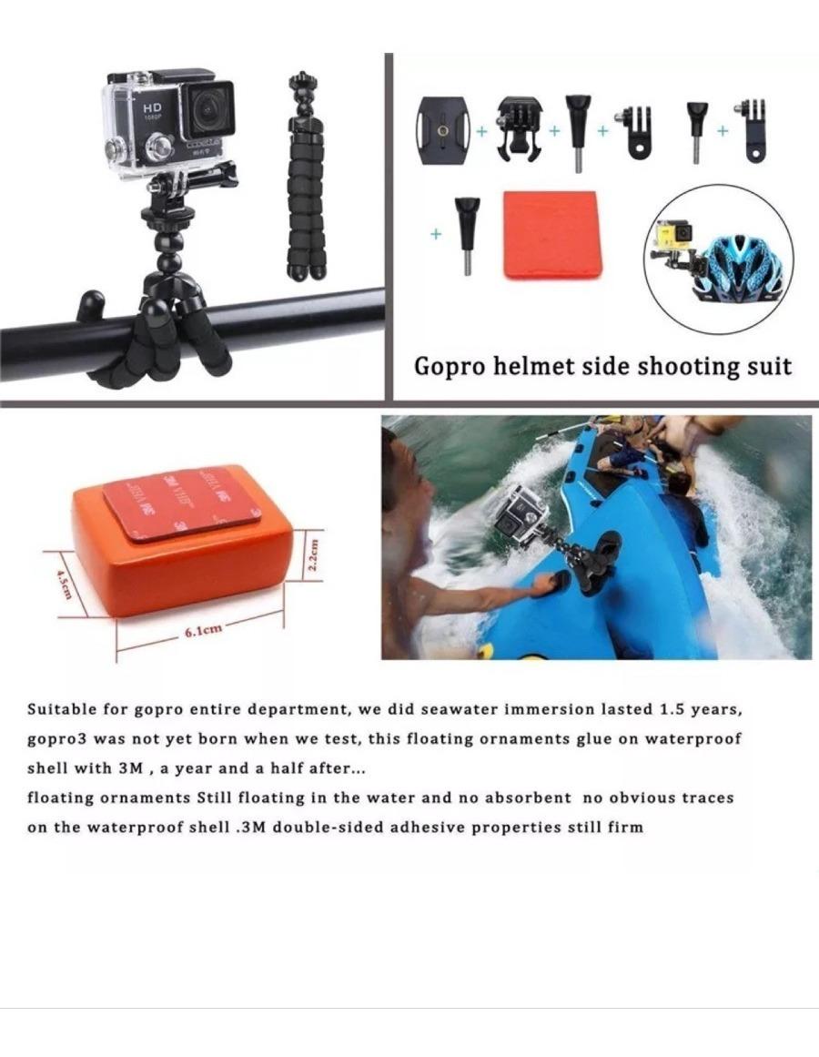 Casco de adaptador de puente Dual Soporte de montaje Monopie para Cámara Gopro Hero sjcam