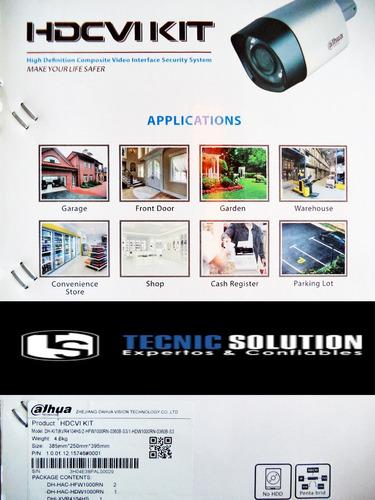 kit de 6 cámara dahua de seguridad hd 720p