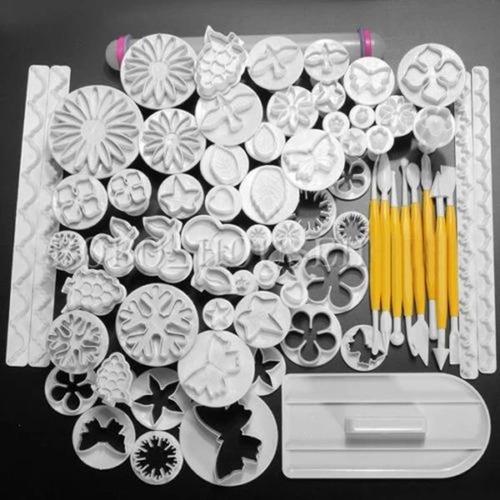 kit de 68 cortadores para fondant moldes envio gratis