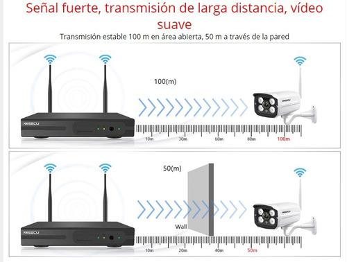 kit de 8 camaras inalambricas fácil instalación 1080p  4tb