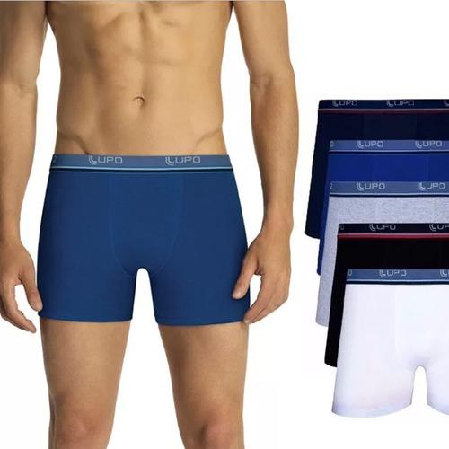 kit de 8 cuecas lupo boxer algodão masculina box