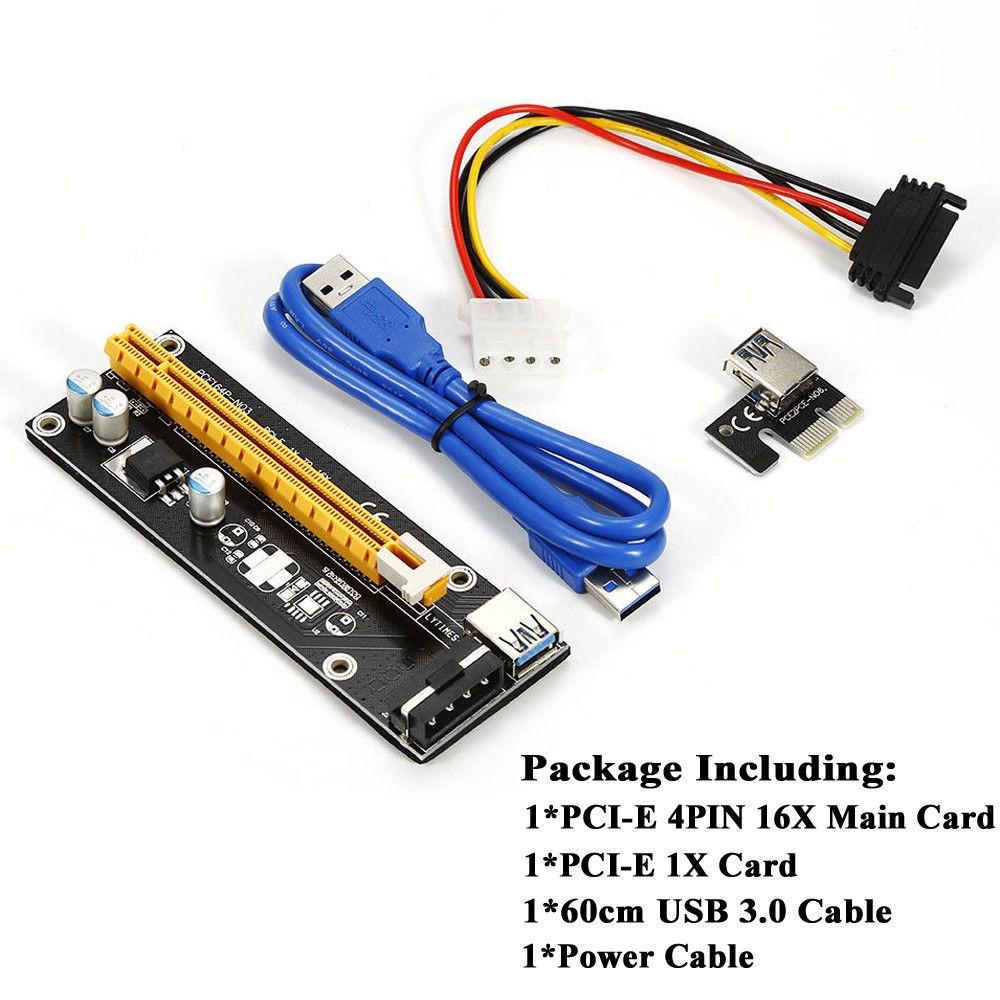 Kit De 8 Riser Pci Express 16x Usb 30 Mineria Gpu 100000 En Mercado Libre