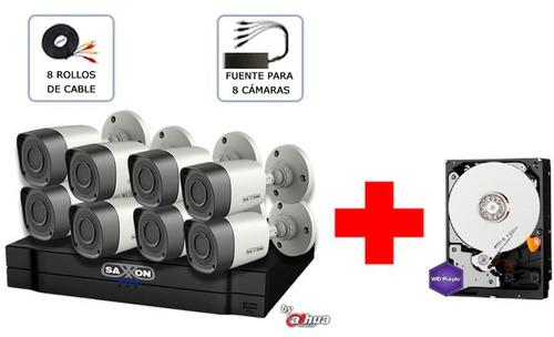 kit de 8ch trihibrido mas disco duro purple 1 tb/ hdcvi
